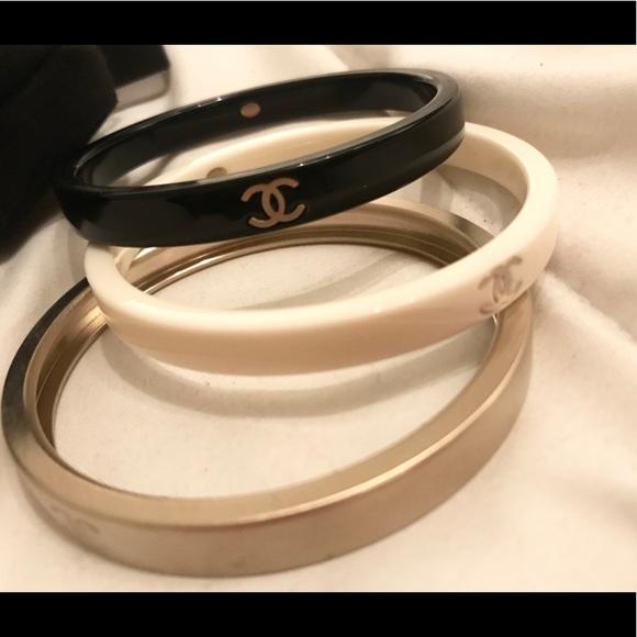CHANEL Jewelry - CHANEL bangles - set of three bracelets
